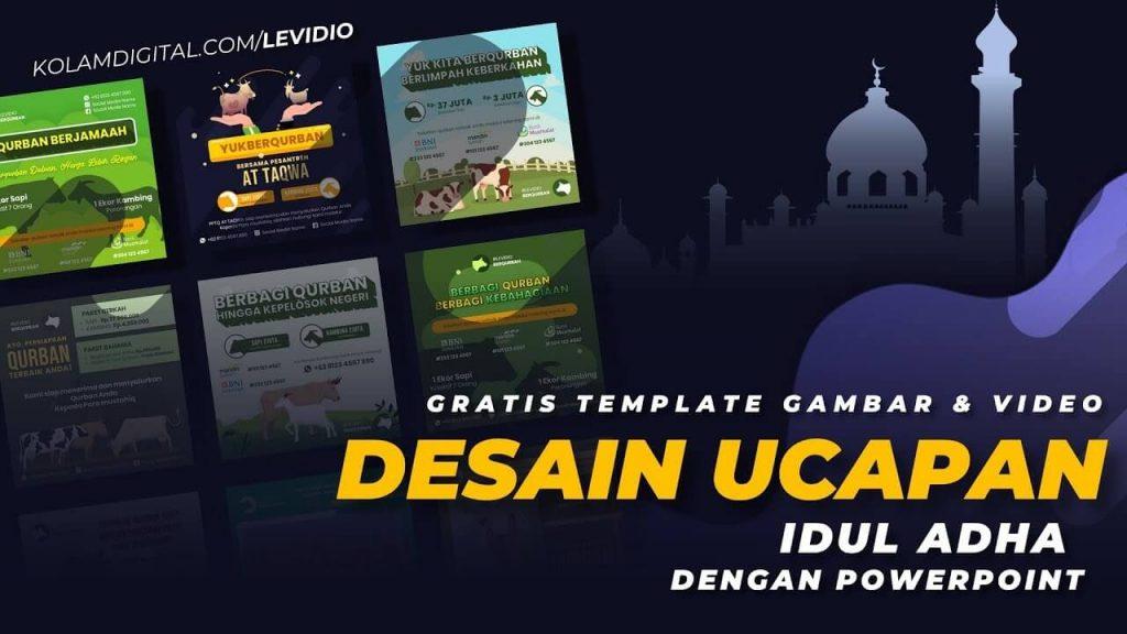 Gratis Template Gambar & Video Desain Ucapan Idul Adha Dari Levidio